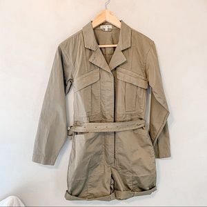 Alex Mill Expedition Belted Green Shorts Jumpsuit